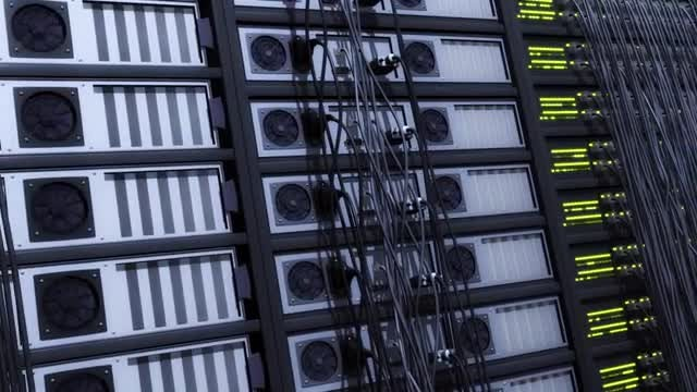 Server Racks Background: Stock Motion Graphics