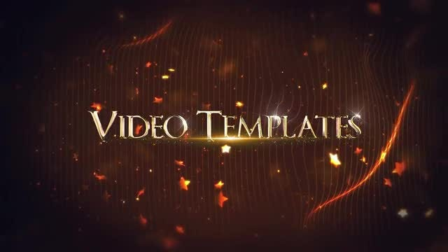 Golden Titles: After Effects Templates