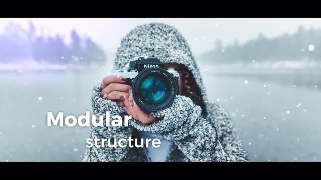 Winter Slideshow: Premiere Pro Templates