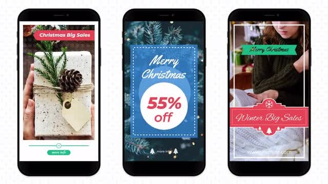 Christmas Instagram Stories: Motion Graphics Templates