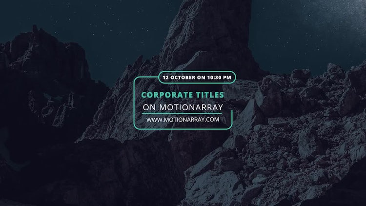 4K Event Corporate Titles: Premiere Pro Templates