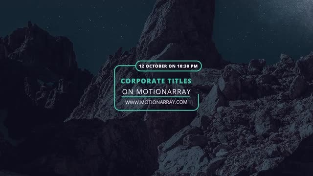 4K Event Corporate Titles: Premiere Pro Templates
