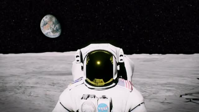 Space Explorer Saluting: Stock Motion Graphics