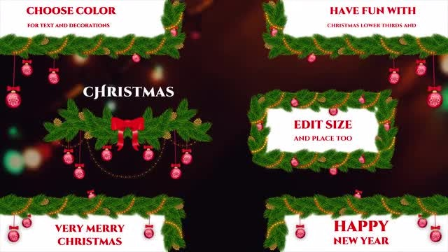 Christmas Tree Lower Thirds: After Effects Templates