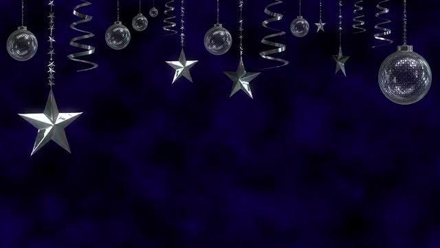 Tinsel, Stars, And Christmas Balls: Stock Motion Graphics