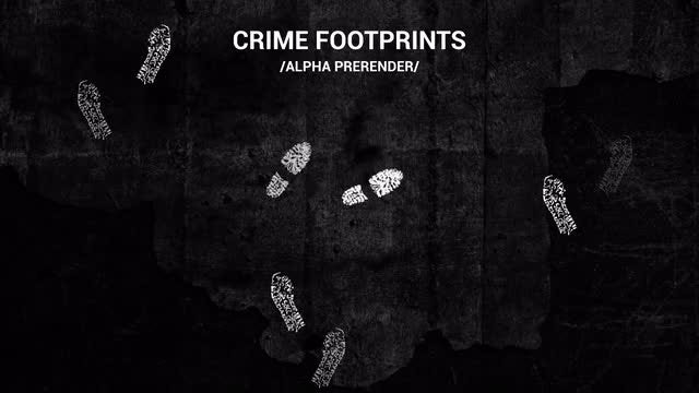 Crime Footprints Pack: Stock Motion Graphics