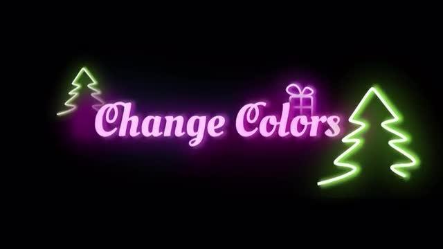Neon Christmas Logo: Premiere Pro Templates