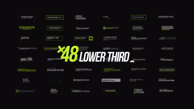 +48 Lower Thirds: After Effects Templates