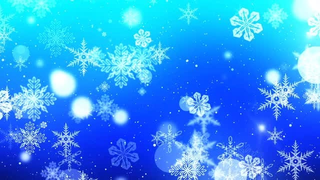 Unique Snowflakes Winter Background Pack: Stock Motion Graphics