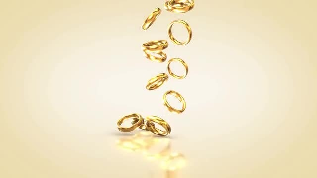 Falling Wedding Rings: Stock Motion Graphics