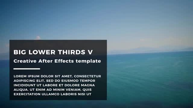 Big Lower Thirds V: After Effects Templates