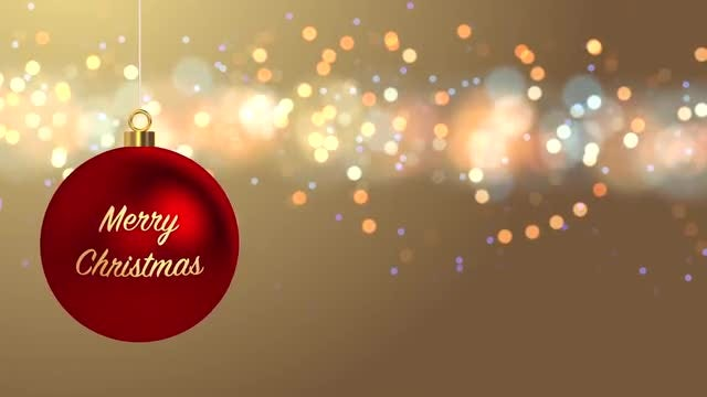 Merry Christmas Background: Stock Motion Graphics