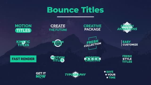 Bounce Titles: Motion Graphics Templates