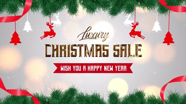 Luxury Christmas Sale: After Effects Templates