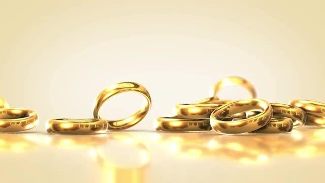 Falling Wedding Rings 2: Stock Motion Graphics
