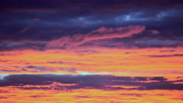 Time Lapse Of Pink Sunrise: Stock Video