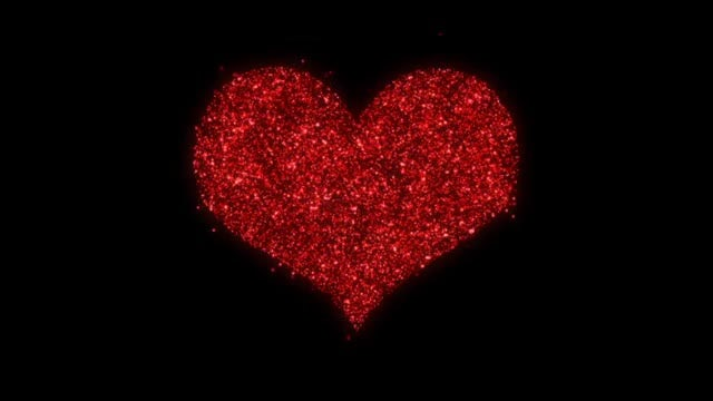 Shimmering Red Particles Valentine Pack: Stock Motion Graphics