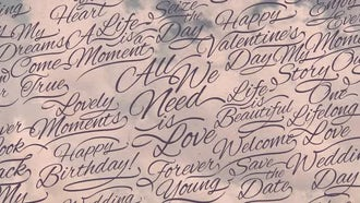 Romantic Calligraphic Titles Background : Motion Graphics