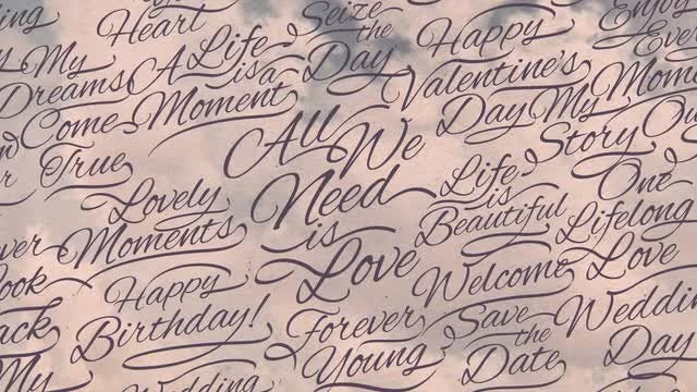 Romantic Calligraphic Titles Background : Stock Motion Graphics