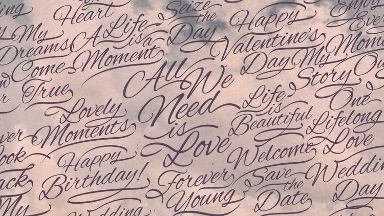 Romantic Calligraphic Titles Background : Stock Motion Graphics