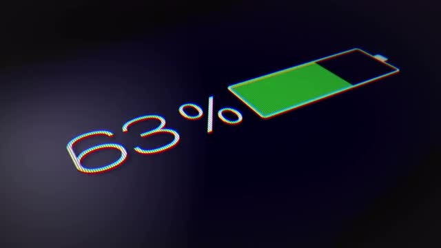 Smartphone Battery Indicator - Fully Charged: Stock Motion Graphics