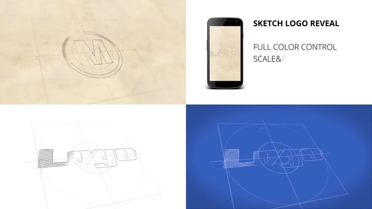 Sketch Logo Reveal + Vertical: After Effects Templates