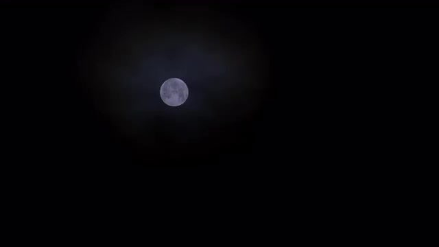 Full Moon Glowing At Night: Stock Video