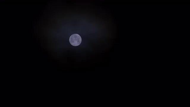 Full Moon Glowing At Night: Stock Video