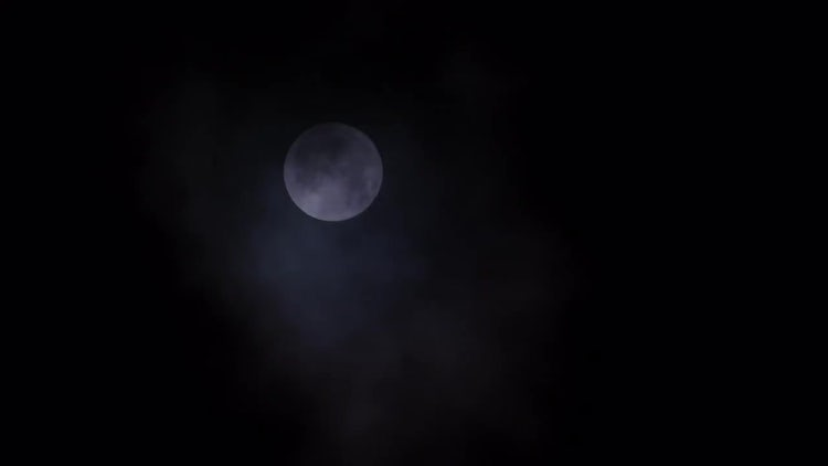 Full Moon In Dark Clouds: Stock Video