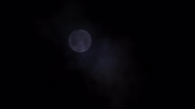 Dim Full Moon: Stock Video