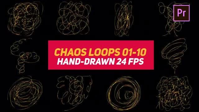 Liquid Elements Chaos Loops 01-10: Motion Graphics Templates