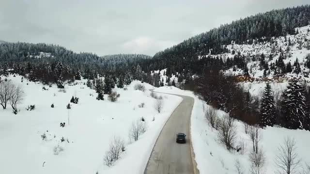 Car Driving In The Mountains: Stock Video