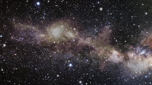 Milky Way Space Galaxy Panorama: Stock Motion Graphics