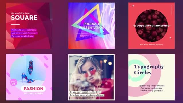 Square Social Media Pack: After Effects Templates