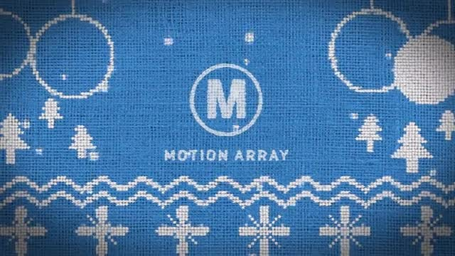Knitted Christmas Logo: Premiere Pro Templates