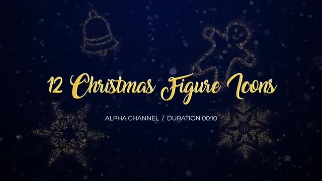 12 Christmas Figure Icons Pack: Stock Motion Graphics
