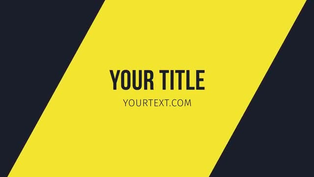 28 Modern And Minimal Titles: After Effects Templates
