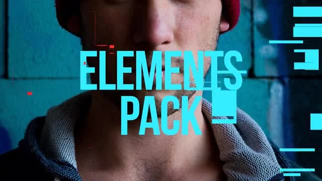 Flat Glitch Elements Pack: Stock Motion Graphics