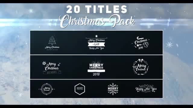 Christmas Titles Pack: Premiere Pro Templates