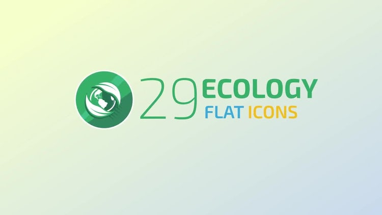 Ecology Concept Icons: Motion Graphics