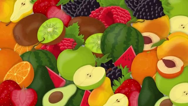 Fruits Transitions Pack: Stock Motion Graphics