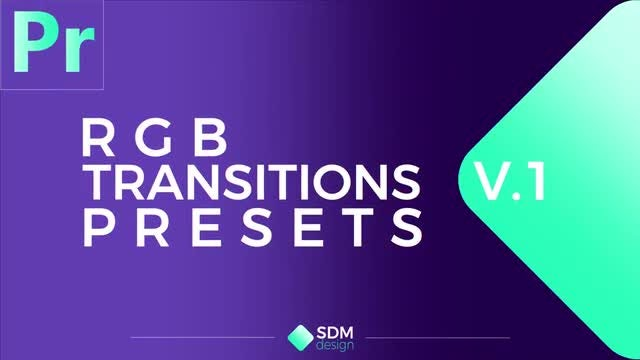 RGB Transitions Pack V 1 - Premiere Pro Presets | Motion Array