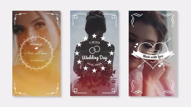 Wedding Instagram Stories: After Effects Templates