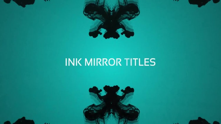 Ink Mirror Titles: After Effects Templates
