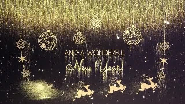 Golden Christmas Wishes: After Effects Templates