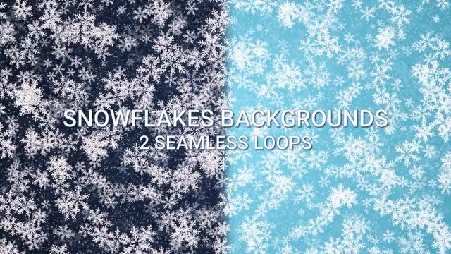 Dark-Light Blue Snowflakes Backgrounds: Stock Motion Graphics