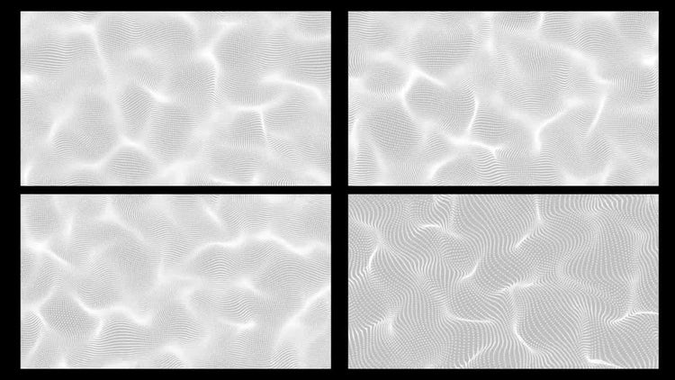 Waves From Dots Particles Background: Stock Motion Graphics