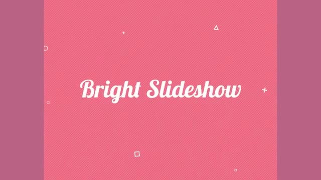 Bright Slideshow: Premiere Pro Templates