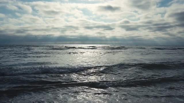 Sea Waves Spreading On Beach: Stock Video