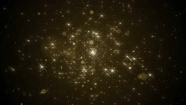 Golden Stars Outer Space Loop: Stock Motion Graphics